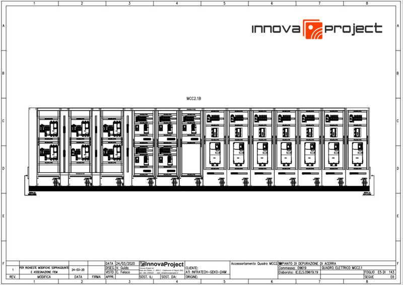 Innova Project_Depuratore Acerra_Accessoriamento Quadro Elettrico